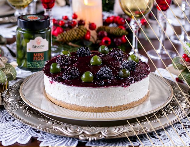 Cheesecake de Figos e Amora